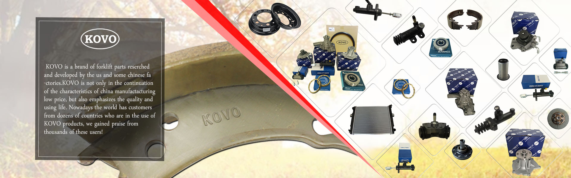 kovo forklift parts